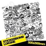 Black And White Stickerbomb Nr. 2 500x500