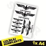 Luftwaffe uzlīmju komplekts 1x A4