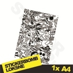 Black And White Stickerbomb Nr. 2 1x A4
