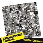 Black And White Stickerbomb 1000x1000