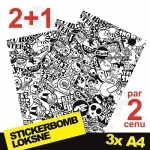 Black And White Stickerbomb Nr. 2 3x A4