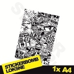 Black And White Stickerbomb Nr. 3 1x A4