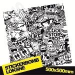 Black And White Stickerbomb Nr. 3 500x500