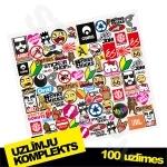 Uzlīmju komplekts - 100 uzlīmes