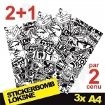 Black And White Stickerbomb Nr. 3 3x A4