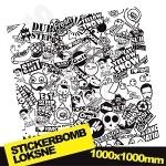 Black And White Stickerbomb 2 1000x1000