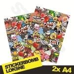 Stickerbomb Nr. 10 2x A4