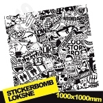 Black And White Stickerbomb 3 1000x1000