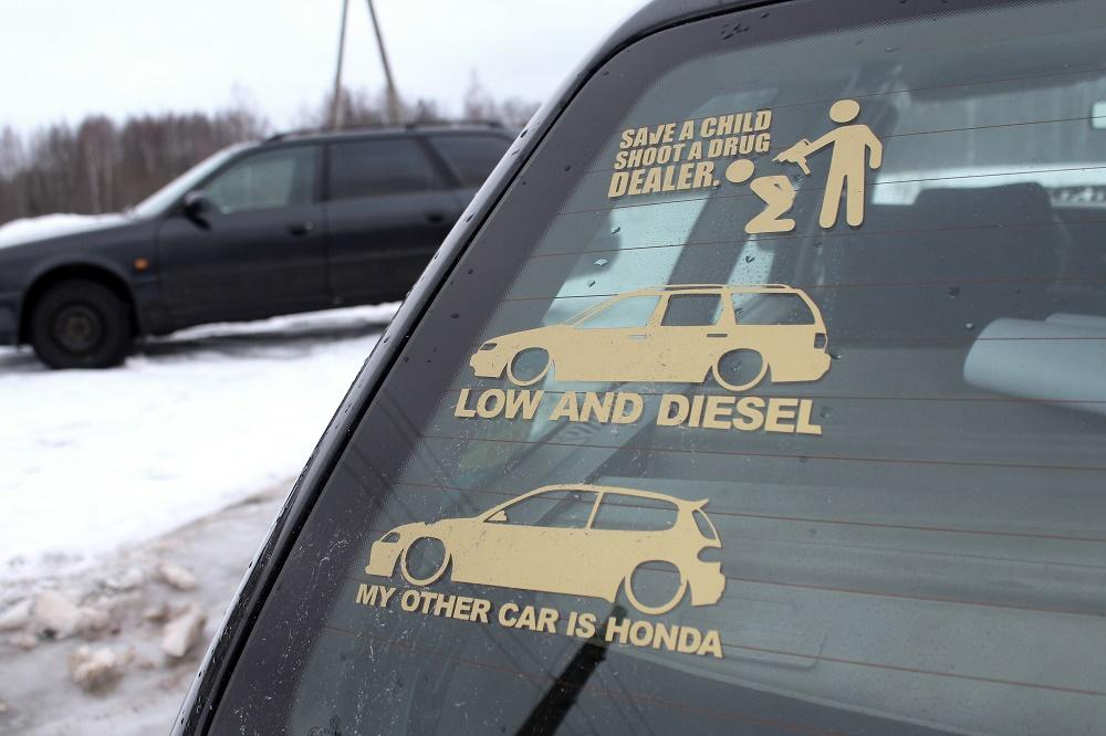 Artūra VW Passat B4 Gold Stickers